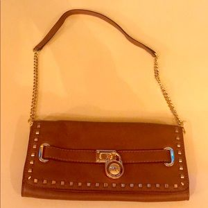 Michael kors leather shoulder bag